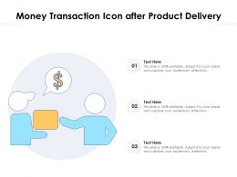 Money Transaction Icon After Product Delivery