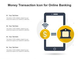 Money Transaction Icon For Online Banking