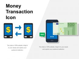 Money Transaction Icon Powerpoint Templates