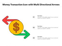 Money Transaction Icon With Multi Directional Arrows