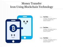 Money Transfer Icon Using Blockchain Technology