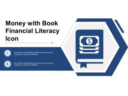 Money With Book Financial Literacy Icon