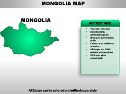 Mongolia Country Powerpoint Maps