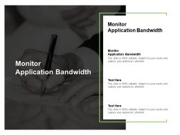Monitor Application Bandwidth Ppt Powerpoint Presentation Portfolio Model Cpb