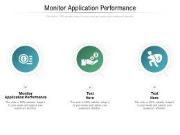 Monitor Application Performance Ppt Powerpoint Presentation Ideas Smartart Cpb