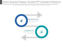 Monitor Business Progress Template Ppt Examples Professional