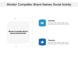 Monitor Competitor Brand Names Social Activity Ppt Powerpoint Presentation Infographic Cpb