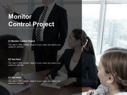Monitor Control Project Ppt Powerpoint Presentation Inspiration Deck Cpb