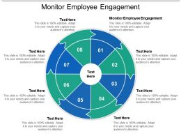 Monitor Employee Engagement Ppt Powerpoint Presentation Slides Elements Cpb