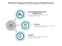 Monitor Employee Performance Hiring Process Ppt Powerpoint Presentation Layouts Show Cpb