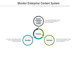 Monitor Enterprise Content System Ppt Powerpoint Presentation Professional Themes Cpb
