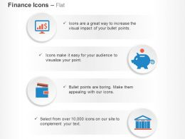 Monitor Growth Piggy Bank Wallet Bank Ppt Icons Graphics