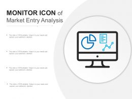 Monitor Icon Of Market Entry Analysis