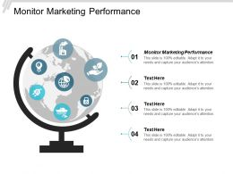 Monitor Marketing Performance Ppt Powerpoint Presentation Layouts Cpb