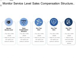 Monitor Service Level Sales Compensation Structure Business Challenge