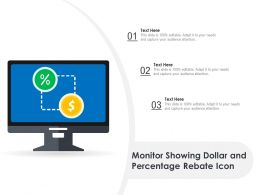 Monitor Showing Dollar And Percentage Rebate Icon