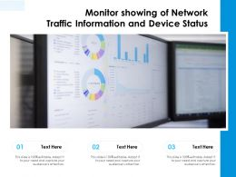 Monitor Showing Of Network Traffic Information And Device Status