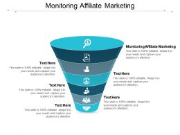 Monitoring Affiliate Marketing Ppt Powerpoint Presentation Infographic Template Graphics Pictures Cpb