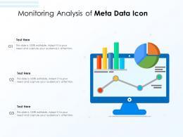 Monitoring Analysis Of Meta Data Icon