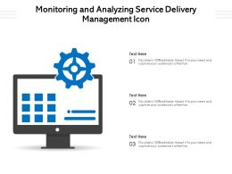 Monitoring And Analyzing Service Delivery Management Icon