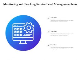 Monitoring And Tracking Service Level Management Icon