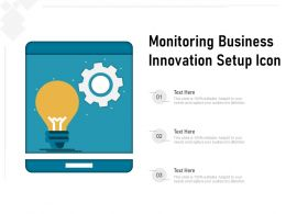 Monitoring Business Innovation Setup Icon