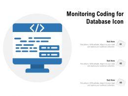 Monitoring Coding For Database Icon