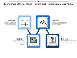 Monitoring Control Icons Powerpoint Presentation Examples