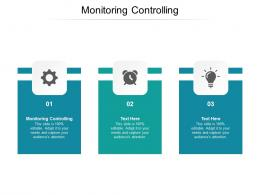 Monitoring Controlling Ppt Powerpoint Presentation Ideas Sample Cpb