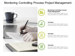 Monitoring Controlling Process Project Management Ppt Powerpoint Presentation Professional Cpb