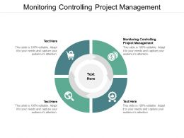 Monitoring Controlling Project Management Ppt Powerpoint Presentation Pictures Cpb