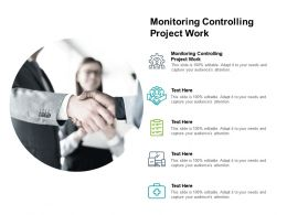 Monitoring Controlling Project Work Ppt Powerpoint Presentation Ideas Visual Aids Cpb