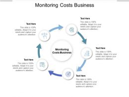 Monitoring Costs Business Ppt Powerpoint Presentation Deck Cpb