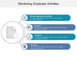 Monitoring Employee Activities Ppt Powerpoint Presentation Professional Guide Cpb