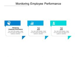 Monitoring Employee Performance Ppt Powerpoint Presentation Pictures Cpb