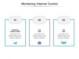 Monitoring Internal Control Ppt Powerpoint Presentation Slides Graphics Template Cpb