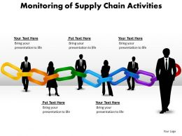monitoring of supply chain activities powerpoint diagram templates graphics 712