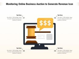Monitoring Online Business Auction To Generate Revenue Icon