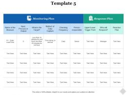 Monitoring Plan Ppt Infographics Example Introduction