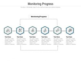 Monitoring Progress Ppt Powerpoint Presentation Slides Shapes Cpb