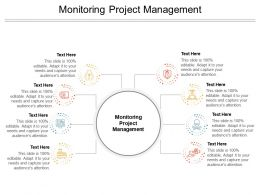 Monitoring Project Management Ppt Powerpoint Presentation Model Cpb
