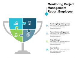 Monitoring Project Management Report Employee Engagement Project Manager Cpb