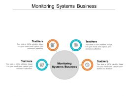 Monitoring Systems Business Ppt Powerpoint Presentation Ideas Design Templates Cpb