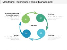 Monitoring Techniques Project Management Ppt Powerpoint Slides Cpb