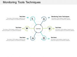 Monitoring Tools Techniques Ppt Powerpoint Presentation Portfolio Portrait Cpb