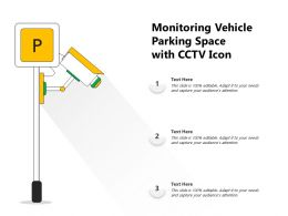 Monitoring Vehicle Parking Space With CCTV Icon