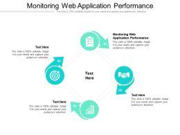 Monitoring Web Application Performance Ppt Powerpoint Presentation Slideshow Cpb