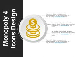 Monopoly 4 Icons Design Good Ppt Example
