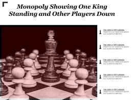 Monopoly Showing One King Standing And Other Players Down