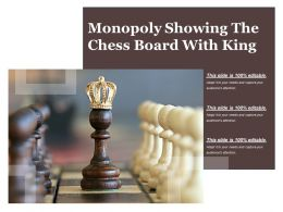 Monopoly Showing The Chess Board With King